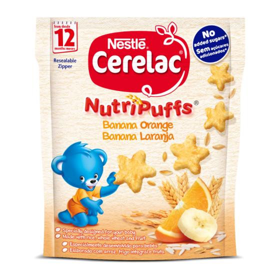 CERELAC NUTRIPUFF ORANGE BANANA 50G 12M +