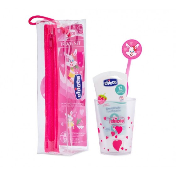 CHICCO ORAL HYGIENE SET 3-6 YEARS PINK
