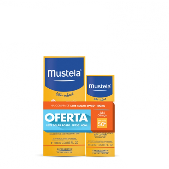 MUSTELA SOLAR MILK SPF50 + 100ML + OFFER MILK FACE