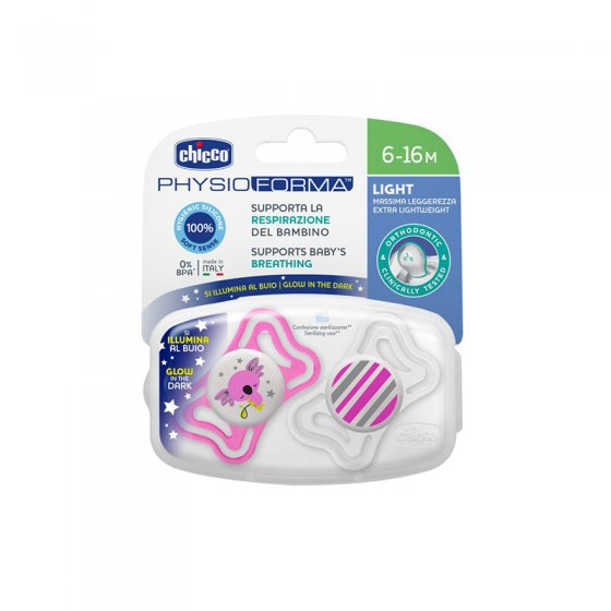 CHICCO PHYSIO LATEX LUMINOSA SILICONE PUNCH 6-16 MONTHS X 2