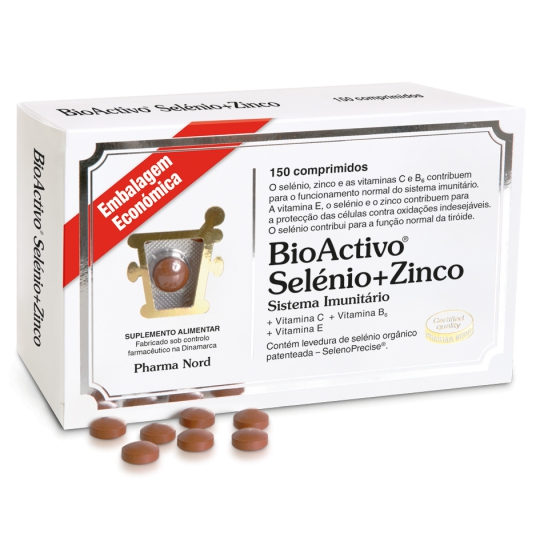 SELENIO BIOACTIVE + ZINC TABLETS X 150