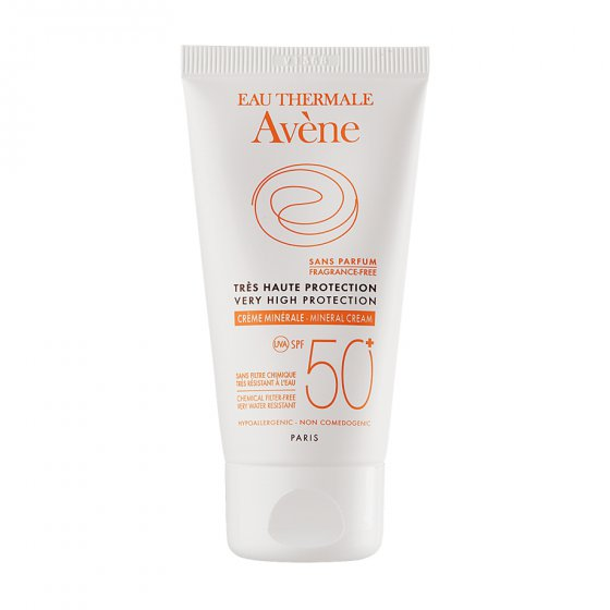 AVÈNE SOLARES MINERAL CREAM SPF50+ FOR INTOLERANT AND ALLERGIC SKIN