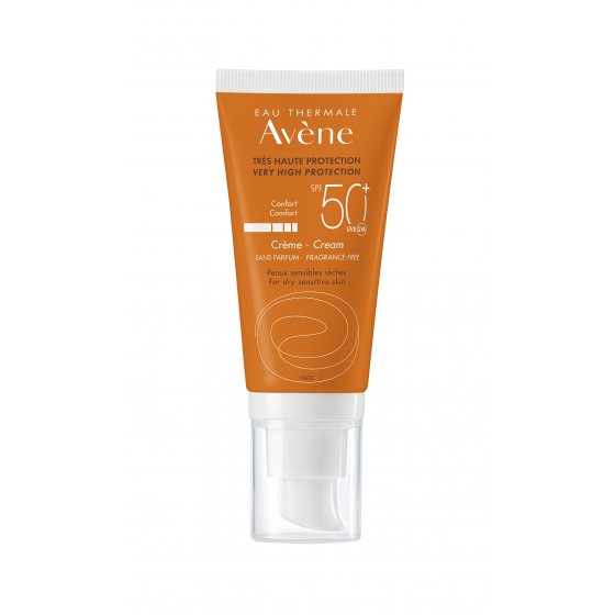 Avène Sun Cream SPF50+ Without Perfume for Very Light and Sun Hypersensitive Skin 50ml
