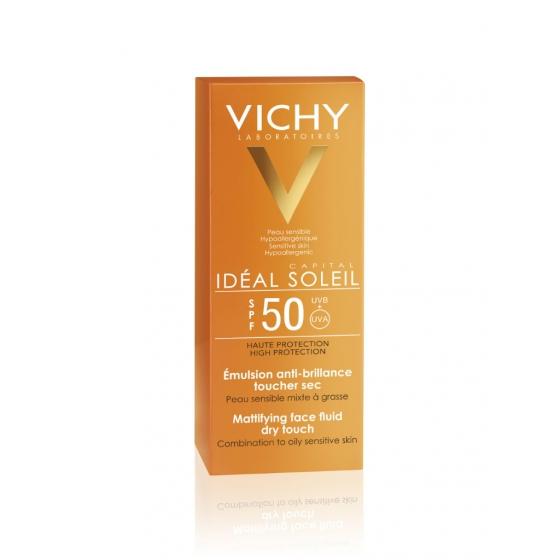 VICHY IDEAL SOLEIL FACE CREAM DRY TOUCH SPF50 50ML