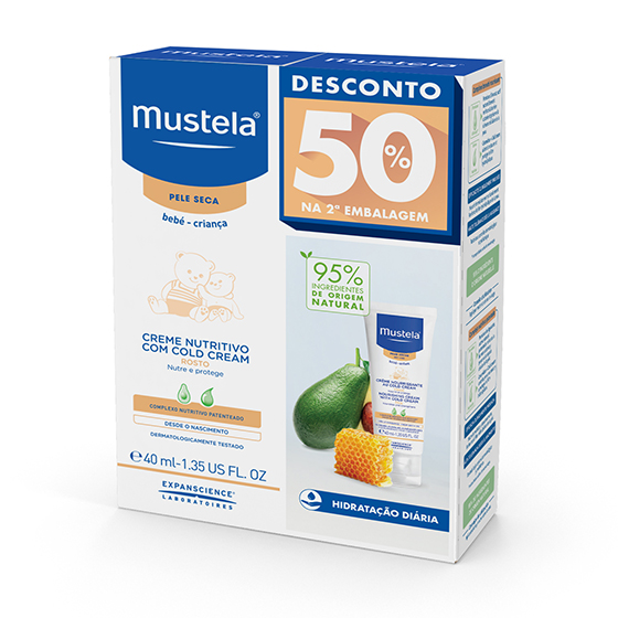 MUSTELA BEBE PS CREAM FACE COLD CREAM 40ML DUO -50% DISCOUNT ON 2nd PACKAGE