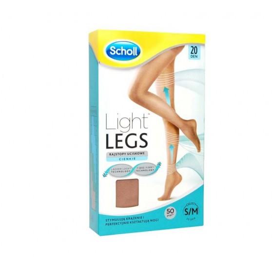 SCHOLL LIGHT LEGS COLLANT COMPRESSION 20DEN S SKIN