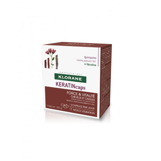 KLORANE Keratincaps for hair with all types of hair loss. Pack of 30 units